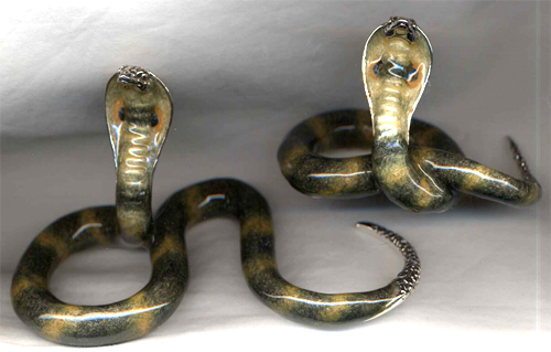 Статуэтки Две кобры из серебра