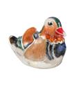 Мандариновая утка малая в серебре ST502-3