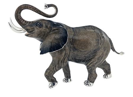 Слон серебро ST604