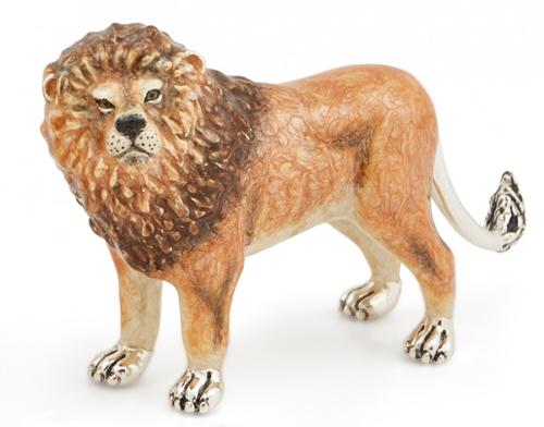Лев Большой из серебра ST549-1