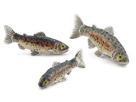 Рыбы Форели серебро эмаль ST627