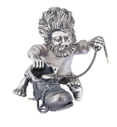 Домовой Сапожник из серебра