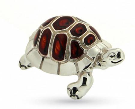Черепах серебро с эмалью ST36b-2