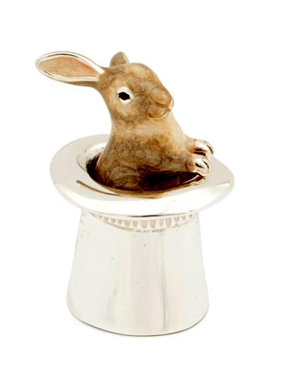Заяц в шляпе серебро ST186-2