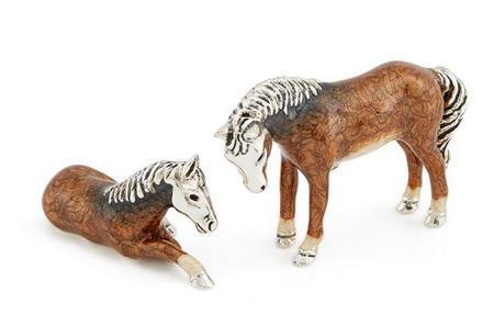 Лошади из серебра ST181