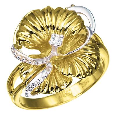 Золотое кольцо с бриллиантами НЕЖНОСТЬ К-14029