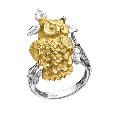 Золотое кольцо с бриллиантами КОРОЛЕВАНОЧИ К - 24029