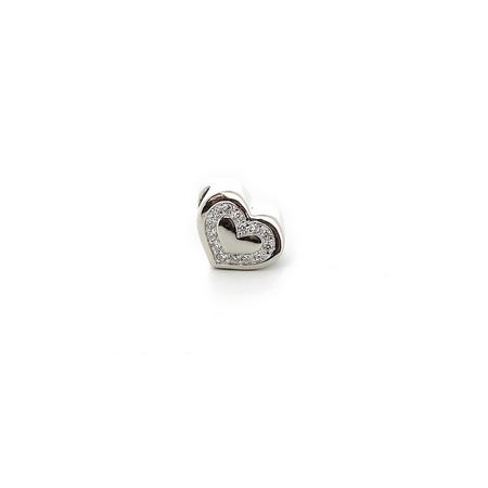 Подвеска-перлина «Сердце с фианитами» 05-0099