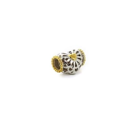 Подвеска-перлина «Золотое сердце» 05-0029