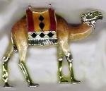 Верблюд с попоной Средний с эмалью ST318-2