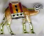 Верблюд с попоной Малый с эмалью ST318-3