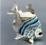 Рыба серебро с эмалью ST18