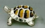 Черепаха большая серебро с эмалью ST36-1