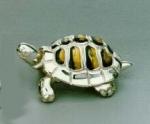 Черепаха малая серебро с эмалью ST36-3
