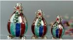 Клоуны серебро с эмалью ST48