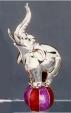 Слон на мяче большой серебро ST50-1