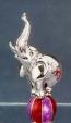 Слон на мяче малый серебро ST50-3