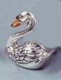 Лебедь малый из серебра с эмалью ST79-3