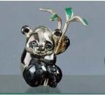 Медвежонок Панда серебро с эмалью ST81