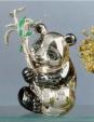 Медвежонок Панда серебро с эмалью ST90