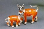 Кошки серебро с эмалью ST97