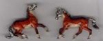 Лошади серебро с эмалью ST110