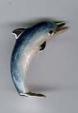 Дельфин малый серебро с эмалью ST174-3