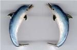 Дельфины серебро с эмалью ST177