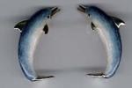 Дельфины серебро с эмалью ST178