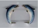 Дельфины серебро с эмалью ST179
