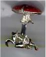 Грибы серебро с эмалью ST193