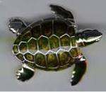 Черепаха большая серебро ST197-1