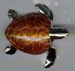 Черепаха большая серебро ST198-1