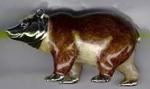 Медведь бурый большой серебро ST219-1