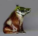 Медведь бурый малый серебро ST219-3