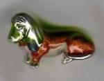 Статуэтка Собака Такса большая серебро ST260-1
