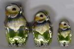 Статуэтки Филины серебро с эмалью ST276