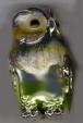 Статуэтка Филин средний серебро с эмалью ST276-2