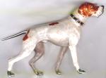 собака породы Пойнтер серебро с эмалью ST329