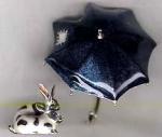 Зонт с кроликами серебро ST353