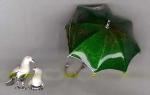 Зонт с с голубями с эмалью ST354