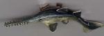 Рыба-пила серебро с эмалью ST360