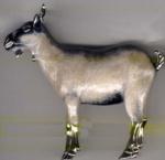Козочка большая серебро с эмалью ST403-1