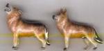 Два волка серебро с эмалью ST409