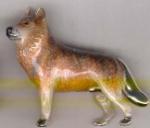 Волк серебро с эмалью ST409-2