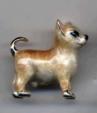 Собака Чи хуа хуа малая серебро с эмалью ST437-2