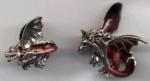 Драконы серебро с эмалью ST438