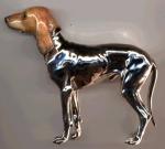 Собака серебро ST444