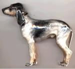 Собака серебро ST445
