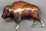 Бизон большой серебро ST477-1